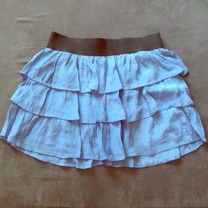 Light Blue Guess Ruffled Mini Skirt